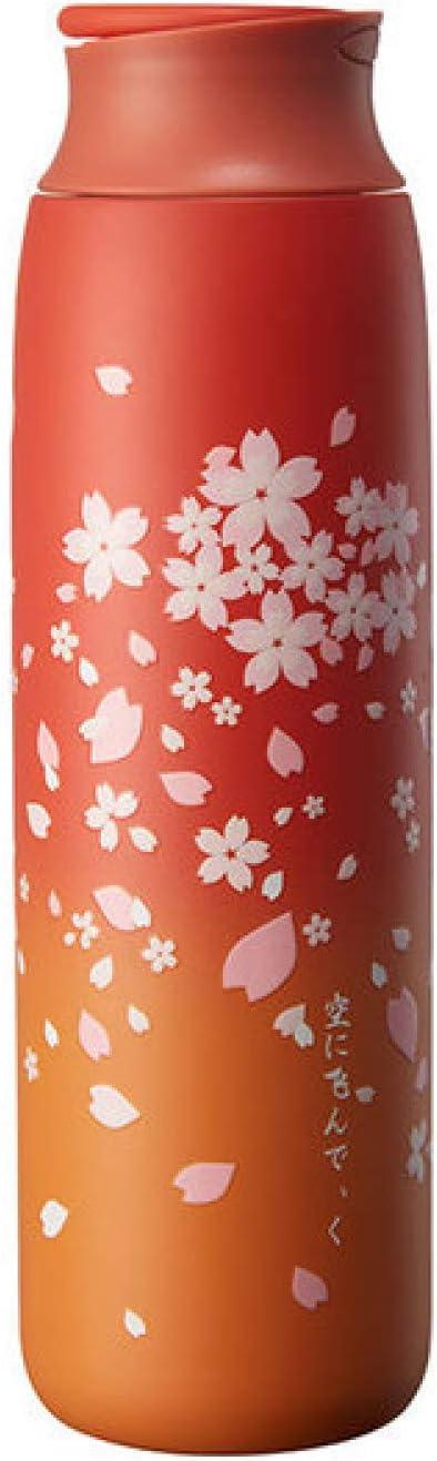 Yetier Botella de Agua, Sakura Portable Thermos Travel 304 Botellas de Agua de Frasco de vacío de Acero Inoxidable