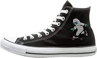 Awesome Yeti Skee Fashion Casual Canvas High-top Sneakers Unisex
