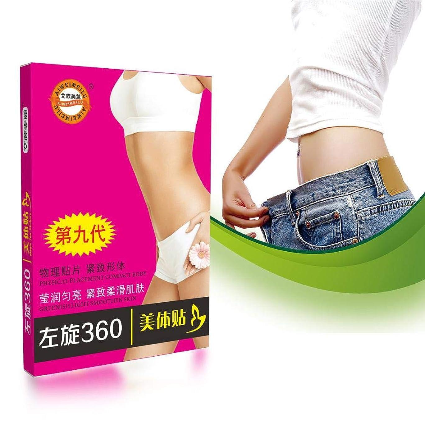 固有のである配置ダイエットステッカー 腹部フラッグステッカー 女性と男性用