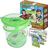 Nature Bound Butterfly Growing Habitat Kit - With Discount Voucher to Redeem Live Caterpillars for Home or School Use - Green Pop-Up Cage 12-Inches Tall - for Boys and Girls Ages 5+