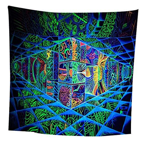 Amuzocity Tapiz Geométrico Abstracto Arte Colgante Pared Sofá Cama Cubierta - 59x79 Pulgadas