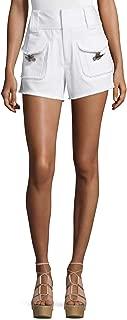 Derek Lam 10 Crosby High-Rise Stretch Denim Toggle-Pocket Shorts