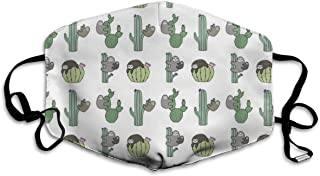 Funny Cactus Sloth Medical Mask - Filters Dust, Pollen, Allergens, Cold & Flu Germs - Allergy Mask Ideal for Airplane Travel, Antimicrobial