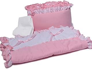 Baby Doll Bedding Regal Cradle Bedding Set, Pink