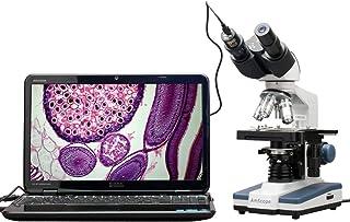 AmScope - 40X-2500X LED Digital Binocular Compound Microscope with 3D Stage + 5MP USB Camera