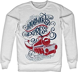 Harry Potter Officially Licensed Inked All Aboard The Hogwarts Express Sweatshirt (White)