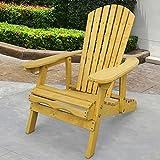 Trueshopping Outdoor Adirondack Garden Patio Chair - Ampia Poltrona con Schienale Regolabile e Curvato -Asemblaggio Facile Ideale per Giardino e Patio