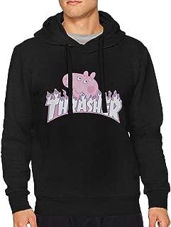 Thra-sher P-eppa-Pig Man Fashion No Pocket Hooded Sweatshirt