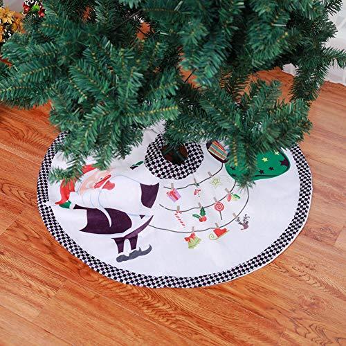 Queta Falda del árbol de Navidad, decoración de la Cubierta del Soporte del árbol de Navidad para el Centro...