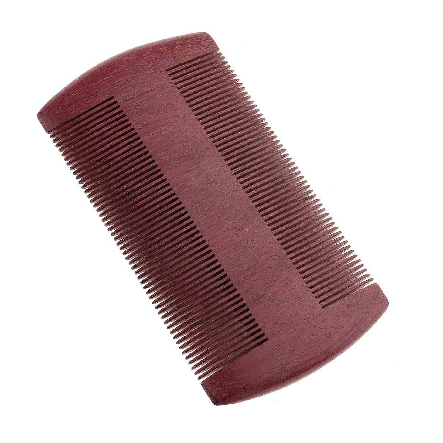 しなければならない半導体わかるKesoto ウッドコーム 木製 ダブル密度 歯 櫛 ひげ ブラシ