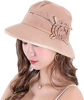 GJPSXTY Sombrero de Playa Plegable de protección Solar Transpirable para Mujer.