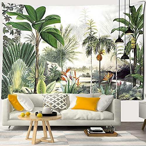 Palmera colgante de tela para colgar en la pared hoja tropical patrón de flores playa colgante de pared animal tapiz de fondo A10 180X230CM