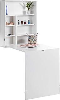 ts-ideen - Mesa de escritorio para colgar (con estantes,