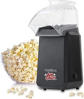West Bend 82418BK Crazy Popper Pops Up To 4 Quarts of Popcorn Using Hot Air, Black