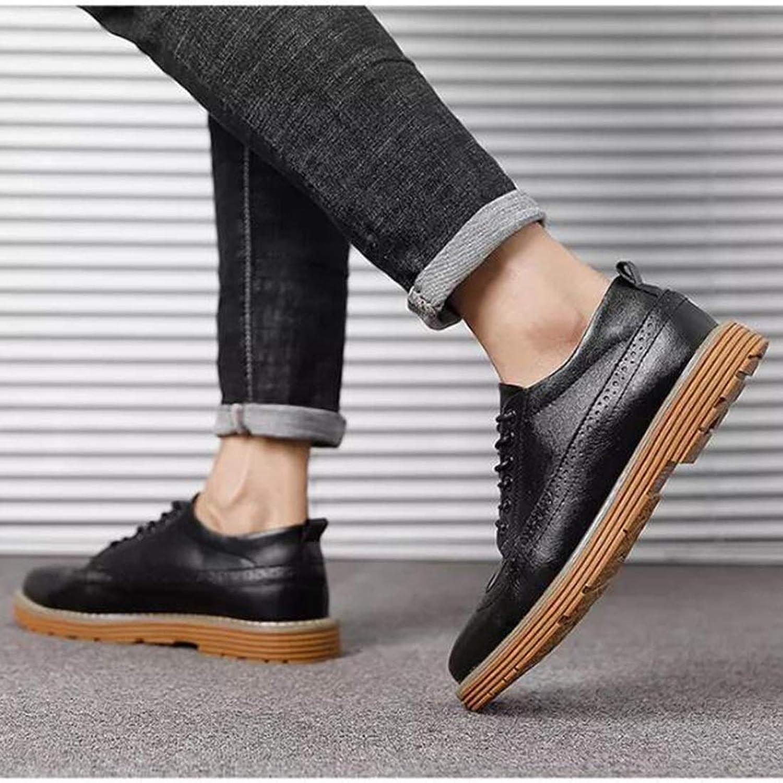 Casual shoes CELIENZL Fashion Lace-up Breathable Man shoes (color Black Size 39)