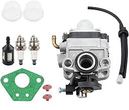 Kizut 753-1225 TB575SS Carburetor for Ryobi 825R 875R 890R 650R Troy Bilt TB525CS TB425CS TB475SS TB26TB TB490BC Trimmer Parts 753-04745 753-04296 MTD MP425 MP426CS MP475 Fuel Line Repower Kit