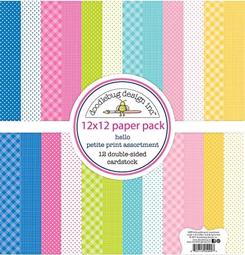 Doodlebug 5999Hello Papier Pack 12x 12Petite