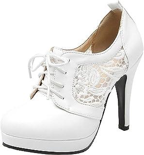 [KITTCATT] レディース 靴 花柄 刺繍 シューズ レースアップシューズ レディース セクシーパンプス おしゃれハイヒール お姫様 靴 プラットフォーム?厚底 美脚 パンプス
