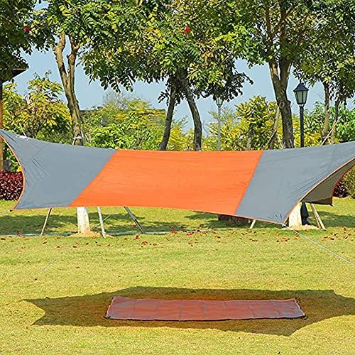 MWKL Carpa para Acampar Protección contra la Lluvia Refugio para el Sol Ligero Toldo Impermeable con toldo portátil para Barbacoa Viajes al Aire Libre Playa 4.1 * 4.1M, Verde