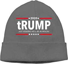Trump 2020 - Just Kidding He'll Be in Prison! Unisex Knit Beanie Hat