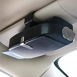 Heylas Brillenhalterung Brillenbox Brillenhalter mit Magnet und Kartenhalter Auto Sonnenbrillenhalterung f/ür Auto Sonnenblende Einfache Montage