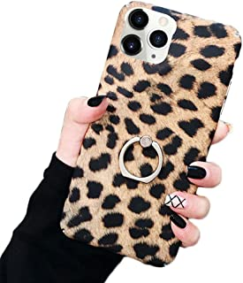 Bonitec Jesiya for iPhone 11 Pro Max Case Kickstand Fashion Luxury Cheetah Leopard Print Pattern Case Ultra-Thin with Ring...