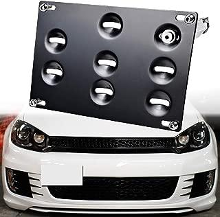 SIZZLEAUTO Front Tow Hook License Plate Relocator Holder Mount Bracket For VW 10-14 Golf, 06-09 R32 GTI, MK5 MK6, 05-10 Jetta, 11-14 Jetta Sportwagon, EOS, 07-14 Audi TT