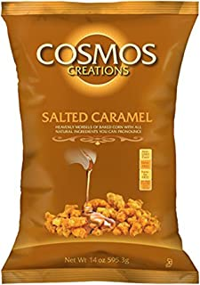 Cosmos Creations Salted Caramel Puffed Popcorn, 14oz Bag (Salted Caramel, 1 bag)