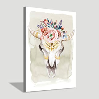 Best cow skull with flowers painting Reviews