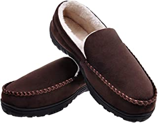 MIXIN Mens Microsuede Moccasin Memory Foam Slippers