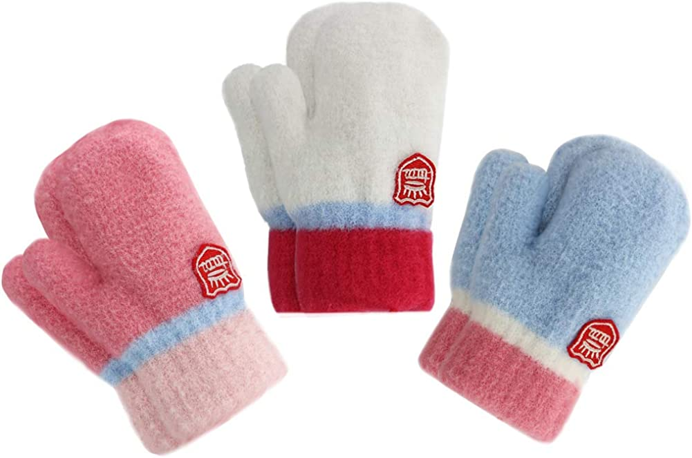 ORVINNER 3 Pack Toddler Gloves Department store Winter Sof Warm Lined Baby Fleece Recommended