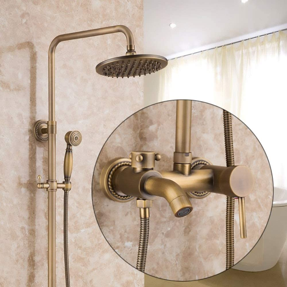 WY-YAN New arrival HZR Shower Set Lifting Retro H Under blast sales Copper-Style