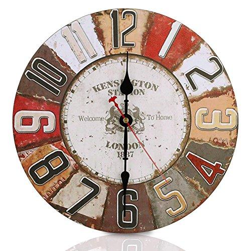 Soledi Reloj de Pared Adornos Pared de la Vendimia europea Pastoral ecológico decoración ideal para su casa