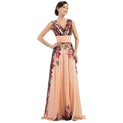 72e284e9cd7 Long Evening Wedding Bridesmaid Dress for Women Chiffon Ball Gowns Prom  Dress