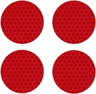 biinfu Conspicuity Safety Caution Warning Sticker for Car Truck Reflective Round Diamond Grade Sticker Motorcycles & Other Safety Needs-red