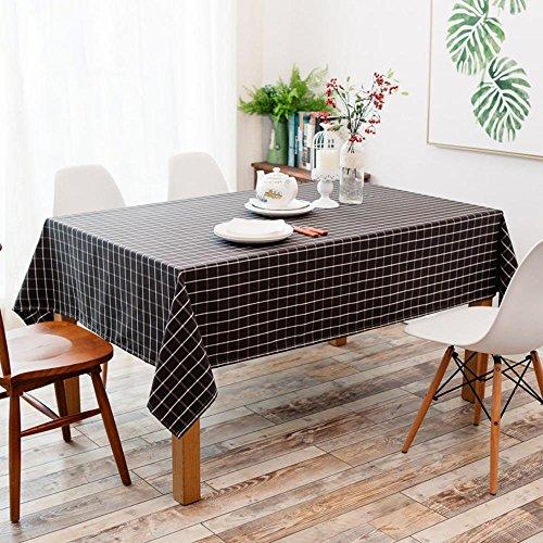 Longless nappes américaines simples nappe à carreaux imperméable noir pastorale café table rectangulaire 90 * 140cm
