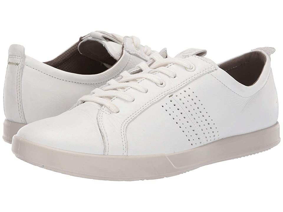 cadc814c ECCO Collin 2.0 Trend Sneaker (White Leather) Men's Lace up casual Shoes