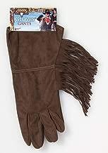 Forum Novelties 70147 Cowboy Brown Fringe Gloves, One Size, Pack of 1