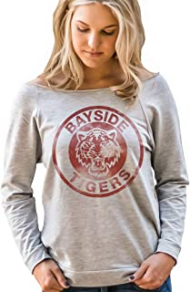 Superluxe Clothing Womens Bayside Tigers Kelly Kapowski Off The Shoulder Top