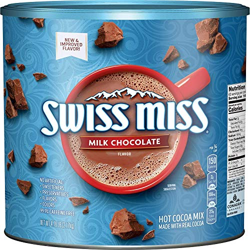 Swiss Miss Milk Chocolate Hot Cocoa Mix Canister 76.5 ounce (2 Pack)