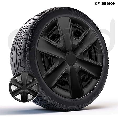 Cm Design 4 X 14 Zoll Hexan Schwarz Auto Radkappen Radzierblenden Auto
