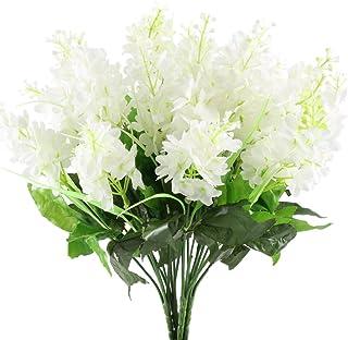 GTidea 4pcs Artificial Wisteria Bundle Fake Flowers Silk Floral Bouquet Arrangements Home Garden Fences Restrant Hotel Par...