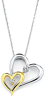 Best rose gold heart pendant necklace Reviews