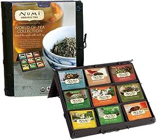 Numi Organic Tea World of Tea Variety Gift Set, 45 Black, Green, Mate & Herbal Tea Bags in Bamboo Chest (Packaging May Var...