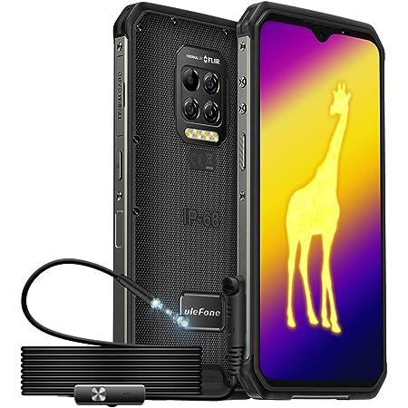 Ulefone Armor 9シリーズ、内視鏡付きサーマルイメージングカメラ頑丈なスマートフォン、8 GB + 128 GB、64 MP背面カメラ、Android 10、IP68 / 69K防水電話、6.3インチFHD水滴スクリーン、6600mAh、NFC()