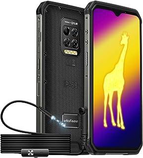 Ulefone Armor 9シリーズ、内視鏡付きサーマルイメージングカメラ頑丈なスマートフォン、8 GB + 128 GB、64 MP背面カメラ、Android 10、IP68 / 69K防水電話、6.3インチFHD水滴スクリーン、6600m...