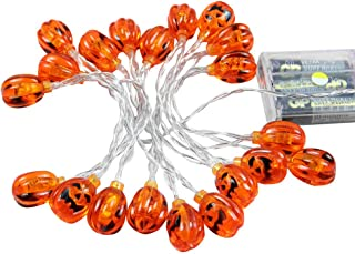 Halloween Pumpkin String Lights with 20 LEDs,Jack-O-Lantern Decorative Lights for Patio,Parties