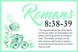 JSC543 Romans 8:38-39 Bible Verse Poster Flowers   18-Inches By 12-Inches   Motivational Inspirational Educational Religious   Premium 100lb Gloss Poster Paper
