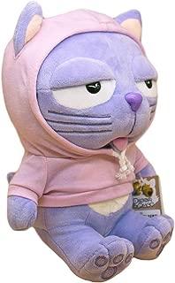 Marionett Eugene Dinga The Lavender Cat in Pink Hoodies, Stuffed Animals Cat Plush Gift for Kids 10