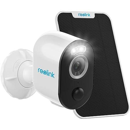 Reolink 2K 4MP Caméra Solaire Surveillance sur Batterie Extérieur sans Fil avec Détction Personne/Véhicule, WiFi 2,4/5GHz, Vision Nocturne Colorée, Audio Bidirectionnel, Argus 3 Pro + Panneau Solaire